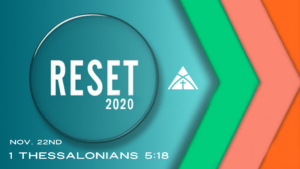"November 22nd: Message - ""Reset 2020"""