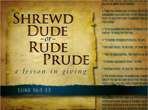 "This Sunday: Message - ""SHREWD Dude or RUDE Prude"""