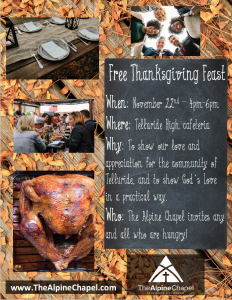Community Thanksgiving Feast @ Telluride High School Cafeteria | Telluride | Colorado | United States