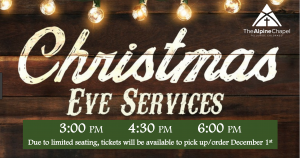 CHRISTmas Eve Service 3:00pm
